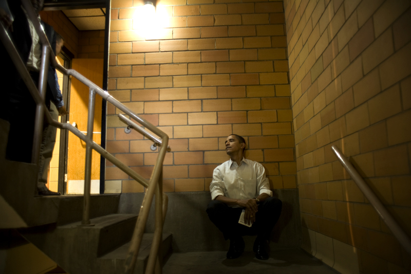 Barack Obama doesn't sleep; he waits.